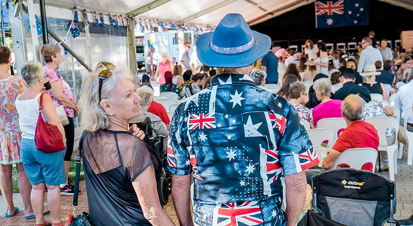 Crowd at Australia Day ceremony in Mandurah
